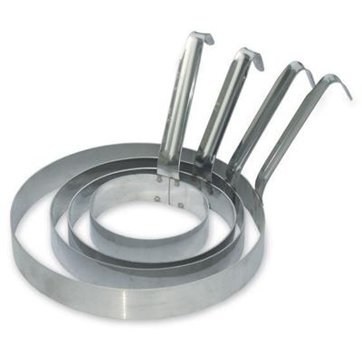 """טבעת 12 ס""""מ בנונית לפנקייק כולל ידית"""