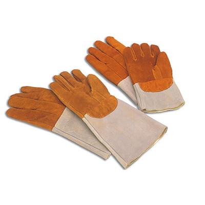 """זוג כפפות עור לתנור (צבע כתום) 20 ס""""מ"""