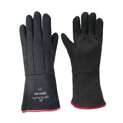זוג כפפות לתנור, 5 אצבעות (צבע שחור) עד 260 מעלות