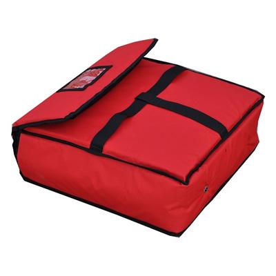 תיק שומר חום לפיצה 2 תאים אדום