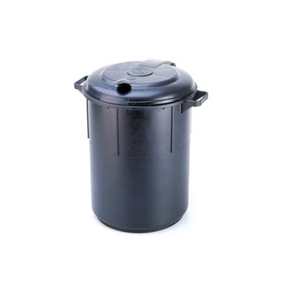 פח 60 ליטר צבע שחור מכסה צמוד