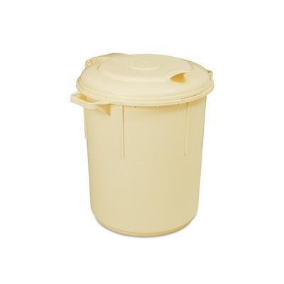 פח/מיכל 80 ליטר שנהב מכסה צמוד פלסגד (קטניות מאושר מזון)